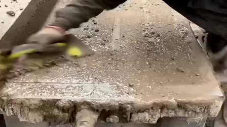 这样制作出来的水泥板,才是最结实的,只是会做的越来越少!