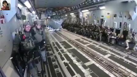 美军海上跳伞,船也跟着跳!别闹好吗