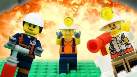 乐高城市采矿失败停止运动乐高探索者探索金块! #乐高城市#乐高世界