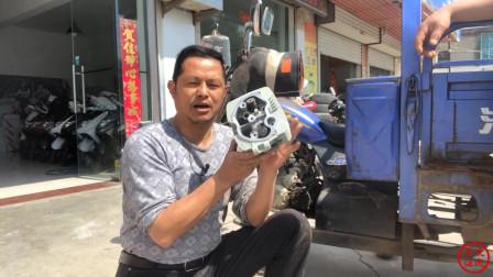 摩托车缸头没有压缩比,你知道哪里坏了吗?学会修车不花冤枉钱