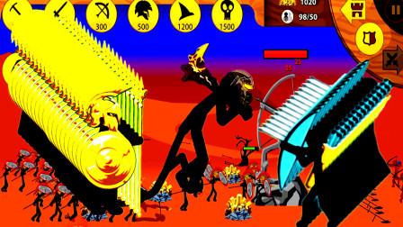 火柴人战争遗产:黄金斯巴达士兵和狮鹫大帝都来了,黑怎样