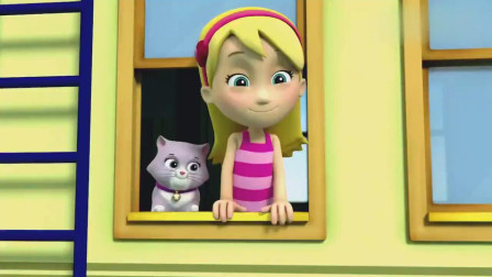 汪汪队:莉莉已经很饿了,想着去抢吃,但是不能被发现啊!
