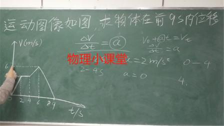 物理小课堂:求物体在前9秒内位移,中考真题解析