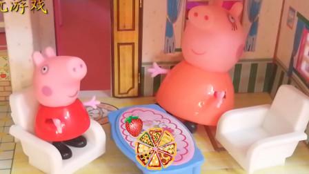小猪佩奇吃早餐上学儿童故事