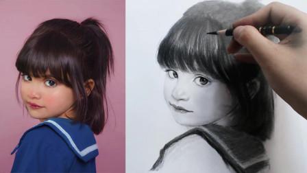 新手素描怎么画?头发是女孩子的亮眼之处,不可忽视这个细节!