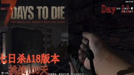 七日杀A18版本(挑战100天)双人生存实况Day 11【加固城堡防御,探密地底实验室!】——晓志解说
