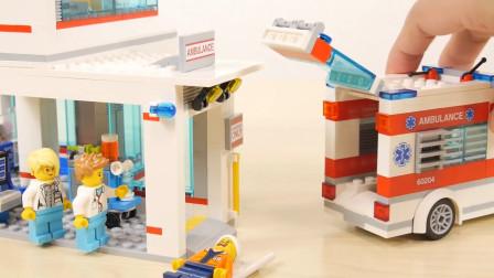 试玩乐高积木城市系列60204城市医院