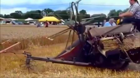 美国牛人发明的收割机,百公里只需一捆草,这样的设计老牛出了不少力!