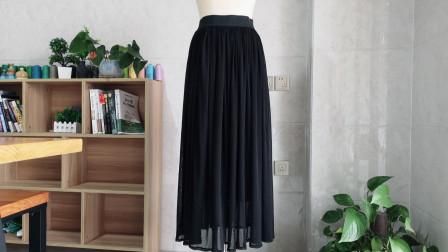 学会这个缝纫小技巧,只要10分钟就能轻松完成一条网纱圆裙,收藏
