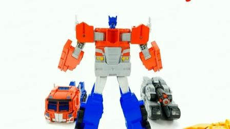 变形金刚机器人坦克与大卡车变形模型玩具视频