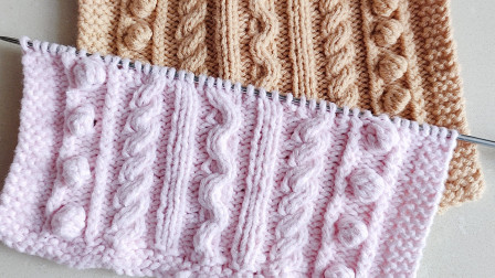 棒针绳吻豆豆花样,织毛衣很好看,收藏起来吧