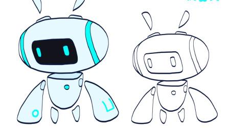 简笔画大全,机器人简笔画