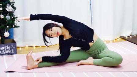 女生最容易胖腿,韩国妹子教你一组坐姿腿部拉伸运动,很管用