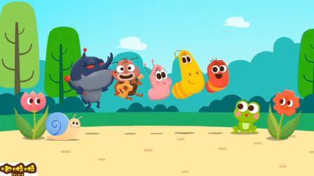 一起去野餐的虫子们会遇到怎样的意外情况呢?爆笑虫子英语启蒙儿歌游戏