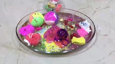 彩虹球、水晶泥史莱姆、果冻贝壳泥、珍珠饰品等,解压又好玩