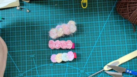 赤赤妈咪手工坊  麻花发夹的钩织教程