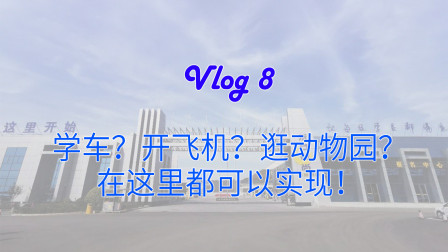 【IQOO Neo 3录制Vlog】学车?开飞机?逛动物园?这驾校了解一下