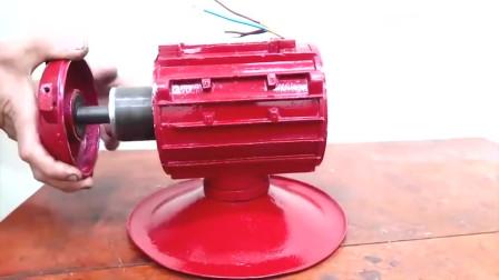 30元收的破旧电机,经过牛人折腾改造够,又变成了一件实用的工具!