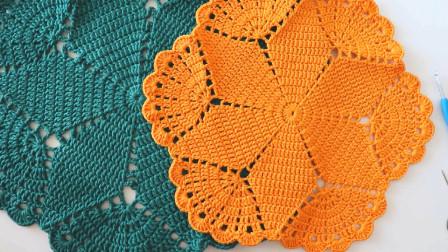 拼盘毛线垫,外观数一数二,编织难度只要2星