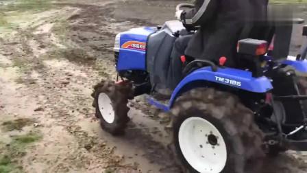 日本井关拖拉机犁地,这款小型拖拉机适合农村,大家觉得好吗