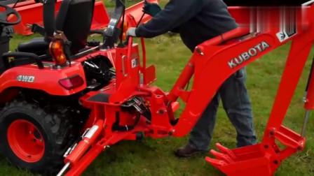 日本久保田多功能小型拖拉机,我们的技术差距有10年吗