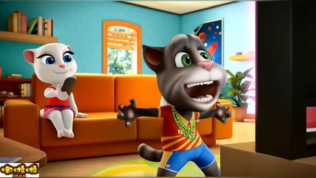汉克狗、安吉拉可以让汤姆猫安静的看个足球赛吗?我的汤姆猫游戏