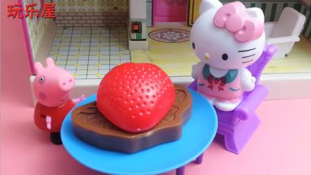 小猪佩奇hello kitty烧烤儿童玩具故事