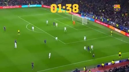 127秒能做什么?交给梅西就是一个进球!