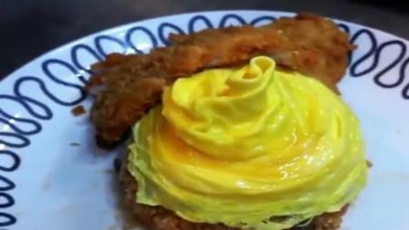 蛋包饭的蛋皮原来是这么做的,看起来好有食欲!