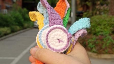 钩针毛线编织手表装饰手环情侣同学闺蜜孩子手环