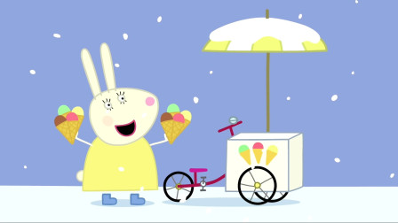 小猪佩奇 兔小姐卖美味的冰激凌 简笔画