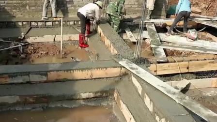 实拍越南农村盖房,工人请了不少,但感觉没多少在干活