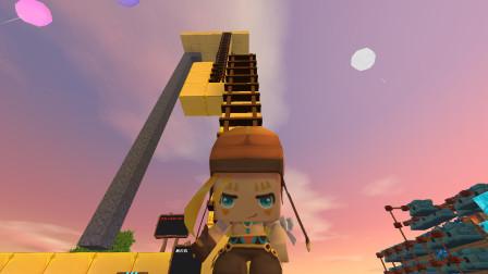 迷你世界墨家小飞:墨家小飞发现超长楼梯是通往哪里的?