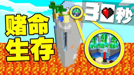 我的世界 空岛赌命生存!每30秒就有可能让玩家炸裂能存活多久?