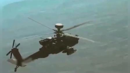 慢放阿帕奇武装直升机发射导弹击毁坦克瞬间,震撼人心!