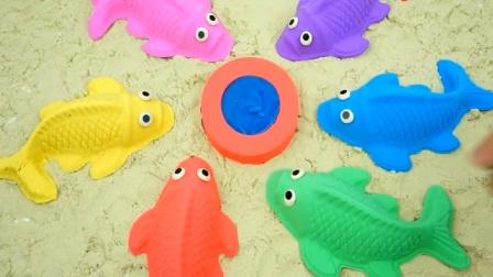 用橡皮泥彩泥制作七彩鱼 色彩认知早教