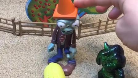 僵尸在卖玉米啦,小朋友们,你们喜欢吃玉米吗?