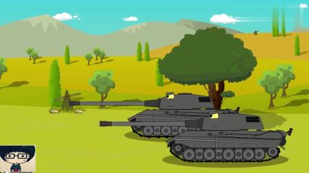 坦克世界动画:摧枯拉朽般的攻击!这就是德系的全部力量吗