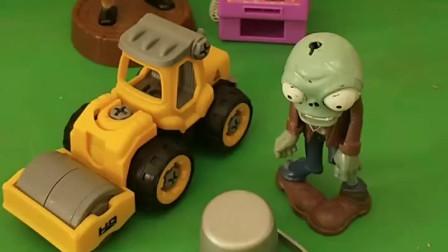 僵尸要戴上自己的帽子,开着他的大卡车出去玩,光头强也想一起去