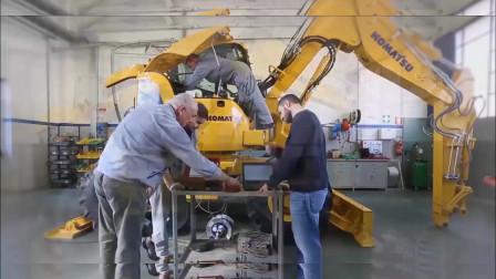 走进小松的意大利工厂,看他们是如何造挖掘机的