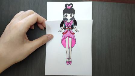 如果王默换上水王子为她变的蓝色礼服?翻开画纸的瞬间美哭了