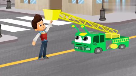 莱德休闲系列-披萨店着火了,百变小蚂蚁变身消防车灭火,酷毙了