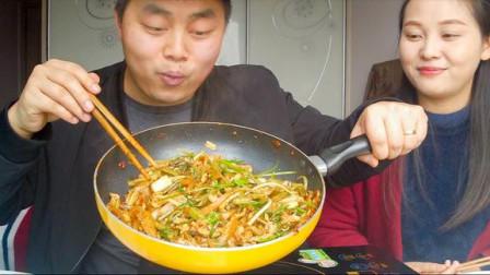 请媳妇儿吃野葱川版泡椒牛肉丝,麻辣酸香超级下饭,看饿了!#优酷吃货节##大吃一斤##厨艺大赏#