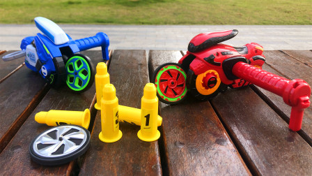 魔幻旋风轮亲子玩具摩托车弹跳回旋竞技