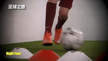 足球青训丨1v1过人技巧之脚内侧拨球变向