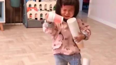 估计河南闺女以后再也不想玩捡纸杯的游戏了,都折腾半小时了。