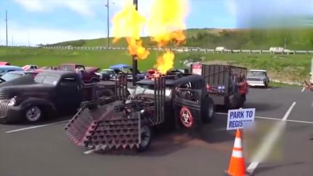 牛人发明:美国牛人发明的战车厉害了,真霸气!