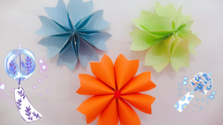 折纸大全:双面花折纸教程的图解步骤