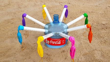 可乐和84消毒水倒在一起,会发生什么反应?结果玩大了!