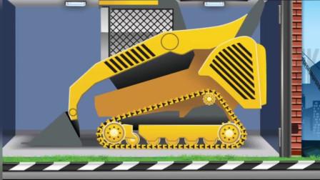 工程车推土机铲车大货车拼图组装 休闲益智游戏